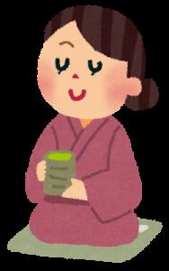 お茶を飲む女性seiso