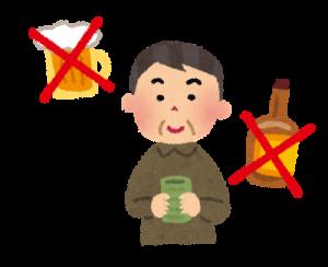禁酒の意志が固い人画像