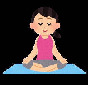 瞑想をする女性のイラスト