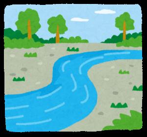潔さを川から感じ取る