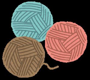 紐の玉3つのイラスト