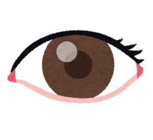大きな目のイラスト